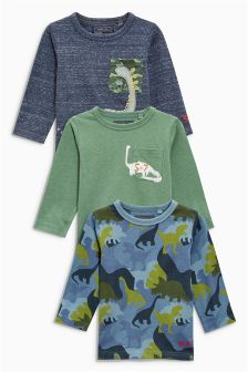 Dinosaur Tops Three Pack (3mths-6yrs)