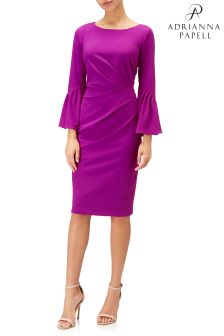 Adrianna Papell Pink Knit Crepe Sheath Dress