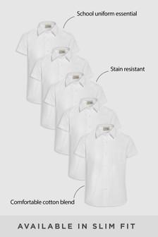 Short Sleeve Formal Shirt Five Pack (3-16yrs)