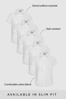 Short Sleeve Formal Shirt Five Pack (3-16yrs)