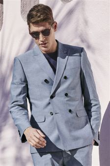 Chambray Cotton Suit
