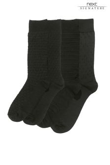Signature Textured Socks Four Pack