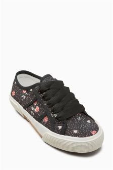 Ribbon Lace-Up Trainers (Older)