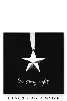 5 Metal Star Keepsake Cards