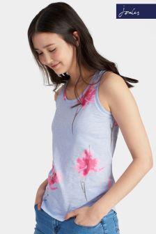 Joules Bo Print Sky Blue Orchid Vest