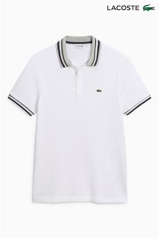 Lacoste® White Contrast Collar Poloshirt