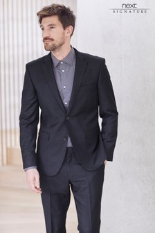 Italian Wool Suit: Tailored Fit Trousers
