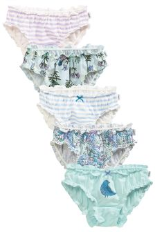 Floral Frill Briefs Five Pack (1.5-16yrs)