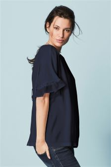 Maternity Frill Top