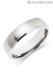 Beaverbrooks Mens Palladium Wedding Ring