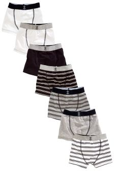 Black & White Stripe Trunks Seven Pack (2-16yrs)