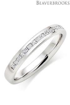 Beaverbrooks Platinum Half Eternity Diamond Wedding Ring