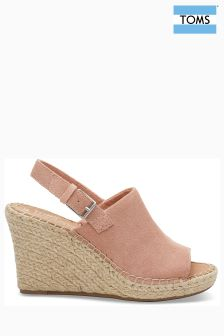 Toms Bloom Suede Monica Espadrille Wedge