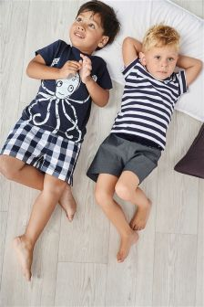 Octopus Woven Pyjamas Two Pack (9mths-8yrs)
