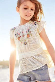 Embroidered Top (3-16yrs)