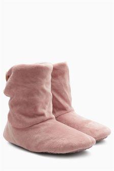 Velvet Slipper Boots