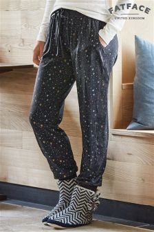 Fat Face Grey Marl Star Pyjama Bottom