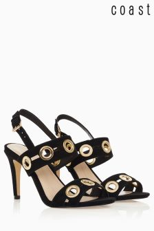 Coast Black Gold Detail Sandal