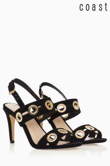 Coast Black Gold Detail Sandal