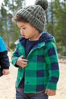 Hooded Fleece Shacket (3mths-6yrs)