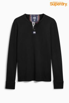 Superdry Black Grandad Top