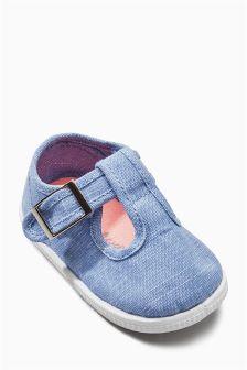 T-Bar Pram Shoes (Younger Girls)
