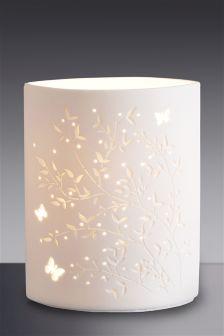 Sophie Leaf Cut Out Ceramic Lamp