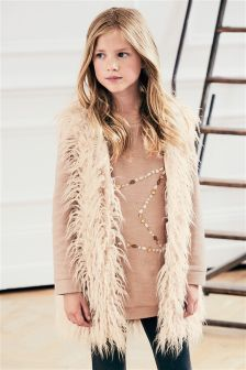 Long Faux Fur Gilet (3-16yrs)