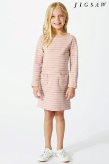 Jigsaw Pink Stripey Jersey Dress