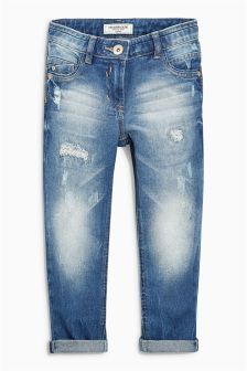 Distressed Relaxed Skinny Jeans (3-16yrs)