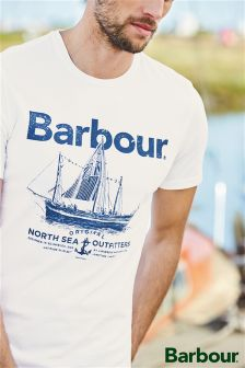 Barbour® White ONSO Logo T-Shirt