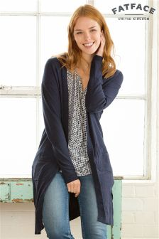 Fat Face Navy Longline Shenley Cardigan