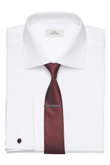 Slim Fit Shirt, Tie And Tie Clip Set