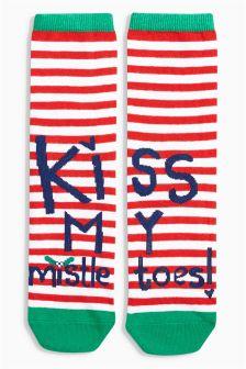 Kiss My Mistletoes Socks