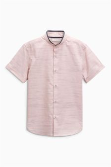 Short Sleeve Fin Collar Shirt (3-16yrs)