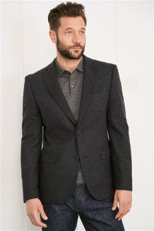 Gingham Slim Jacket