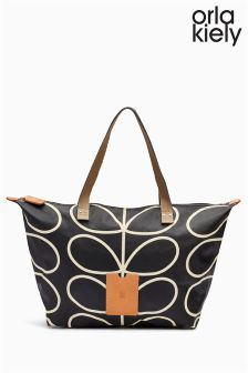 Orla Kiely Black And White Stem Shopper