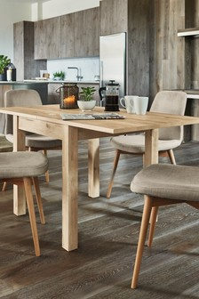 Bronx Light 4-6 Seater Square To Rectangle Dining Table