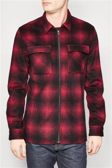 Long Sleeve Check Overshirt