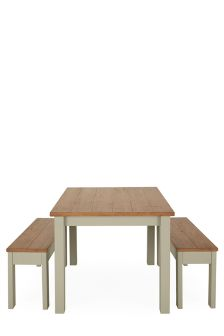 Kendall Painted Dining Table And Bench Set