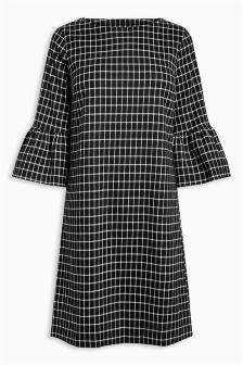 Grid Check Dress