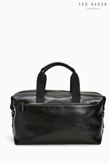 Ted Baker Black Corre Leather Holdall