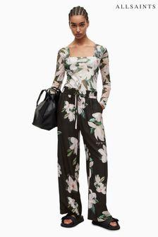 Satin Floral Print Robe