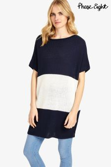 Phase Eight Navy/Ivory Sebastiana Stripe Knit
