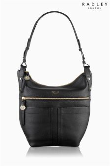 Radley® Black Kensal Large Zip Top Hobo Bag
