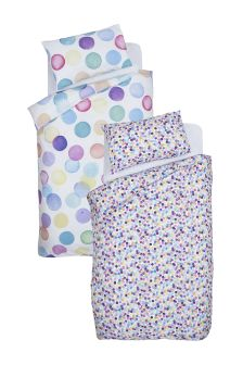 2 Pack Lilac Dotty Bed Set