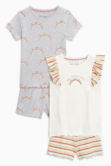 Rainbow Shorts Pyjamas Two Pack (3-16yrs)
