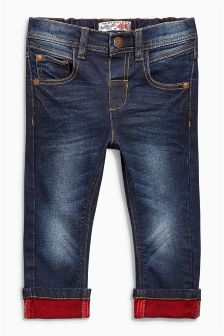 Contrast  Turn-Up Jeans (3mths-6yrs)