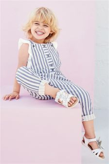 Stripe Dungarees (3mths-6yrs)
