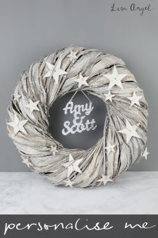 Personalised Star Wreath By Lisa Angel